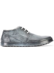 Marsell Distressed Derby Shoes Men Leather 45 Black