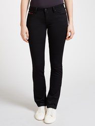 Tommy Hilfiger Denim Mid Rise Straight Jeans Dana Black Stretch