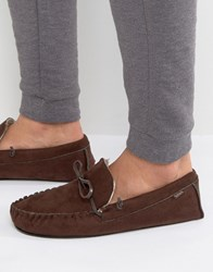 Totes Moccasin Slippers Brown