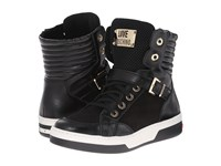 Love Moschino High Top Sneakers Black Women's Lace Up Casual Shoes