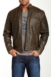 Lucky Brand Bonneville Genuine Leather Jacket Black