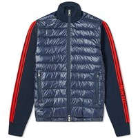 Moncler Knitted Down Cardigan Blue