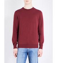 Canali Crewneck Knitted Jumper Borduex