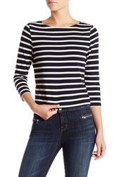 J Brand Marina Long Sleeve Tee Blue