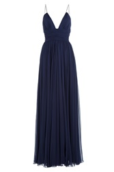 Jenny Packham Silk Evening Gown Purple