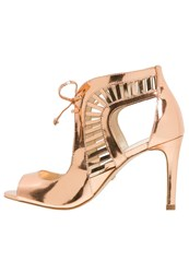 Buffalo High Heeled Sandals Salmon Rose Gold