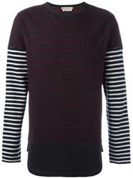 Marni Striped Longsleeved T Shirt Grey