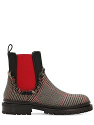 1daa818a1 L'autre Chose 20Mm Wool Price Of Wales Chelsea Boots Beige Multi