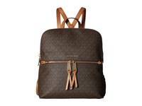 Michael Michael Kors Rhea Zip Medium Slim Backpack Brown Backpack Bags
