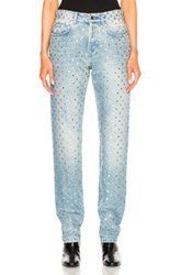 Givenchy Embroidered Denim In Blue