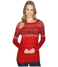 Woolrich Mohair Fairisle Ii Sweater Old Red Combo Women's Sweater