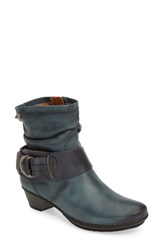 Pikolinos Women's 'Brujas 801' Boot Deep Blue Leather