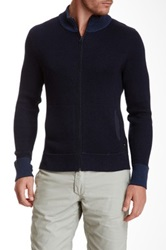 Relwen Zip Cardigan Blue