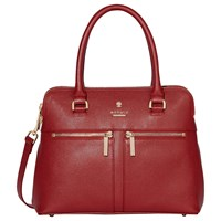 Modalu Pippa Small Leather Grab Bag Cherry Red