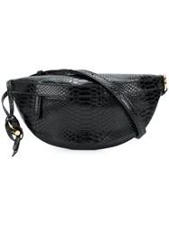 Stella Mccartney Croco Embossed Waist Bag Black