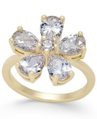 Charter Club Gold Tone Crystal Flower Ring Only At Macy's
