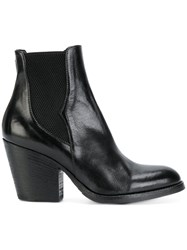Pantanetti Heeled Western Boots Calf Leather Leather Rubber 38.5 Black
