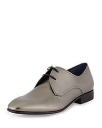 Salvatore Ferragamo Marte Patent Lace Up Oxford Silver