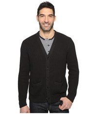Dockers Premium Cotton Cashmere Cardigan Black Men's Sweater