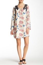 Voom By Joy Han Lyla Bell Sleeve Dress White