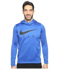 Nike Therma Basketball Hoodie Game Royal Black Black Men's Sweatshirt Blue