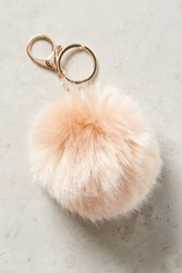 Anthropologie Fur Pom Keychain Pink