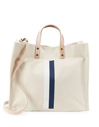 Parker Thatch Striped Canvas Tote Cream