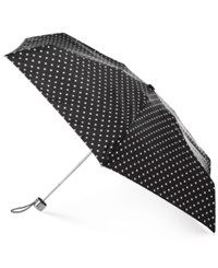 Totes Neverwet Manual Umbrella Gift Set Black White Dot