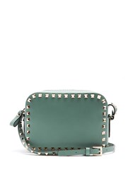 Valentino Rockstud Leather Camera Cross Body Bag Green