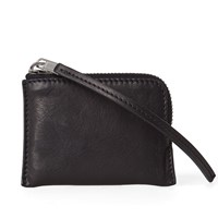 Rick Owens Leather Small Zip Wallet Black