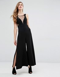 Alice Mccall Somewhere In The Night Sheer Jumpsuit Black