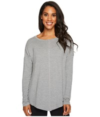 Lucy Pure Light Pullover Silver Filigree Heather Women's Long Sleeve Pullover Gray