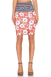 Clover Canyon Floral Sunrise Skirt Red
