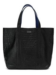 Mara Mac Leather Tote Bag Black
