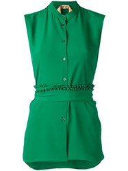 N 21 No21 Sleeveless Shirt Green