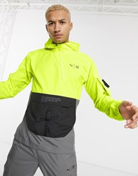 Puma Running First Mile Jacket In Neon Yellow