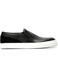 Alexander Mcqueen Skull Slip On Sneakers Black