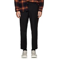 Adaptation Striped Wool Trousers Black