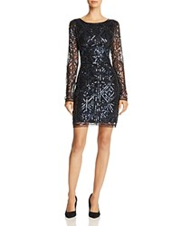 Molly Bracken Sequin Sheath Dress Navy