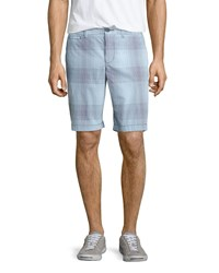 Penguin Ombre Check Print Shorts Patriot Blue