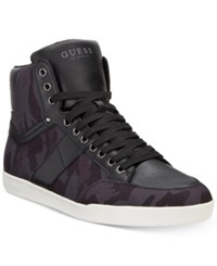Guess Men's Fomo Sneakers Created For Macy's Men's Shoes Black Camoflage