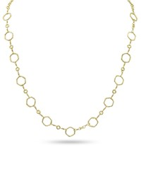 Dominique Cohen 18K Gold Hexagonal Chain Necklace