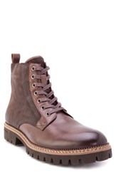 Zanzara Millet Water Resistant Lugged Boot Brown Leather