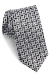 Men's J.Z. Richards Geometric Silk Tie Grey