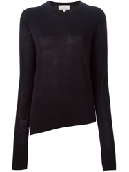 Studio Nicholson 'Jude' Asymmetric Sweater Blue