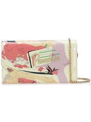 Emilio Pucci Printed Chain Wallet Pink And Purple