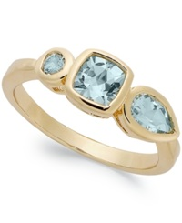 Victoria Townsend 18K Gold Over Sterling Silver Blue Topaz Ring 1 1 3 Ct. T.W.