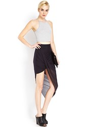 Forever 21 Draped Asymmetrical Maxi Skirt