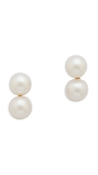 Wouters And Hendrix Double Imitation Pearl Stud Earrings