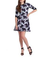 Calla Austin Lily Print Dress Mauve